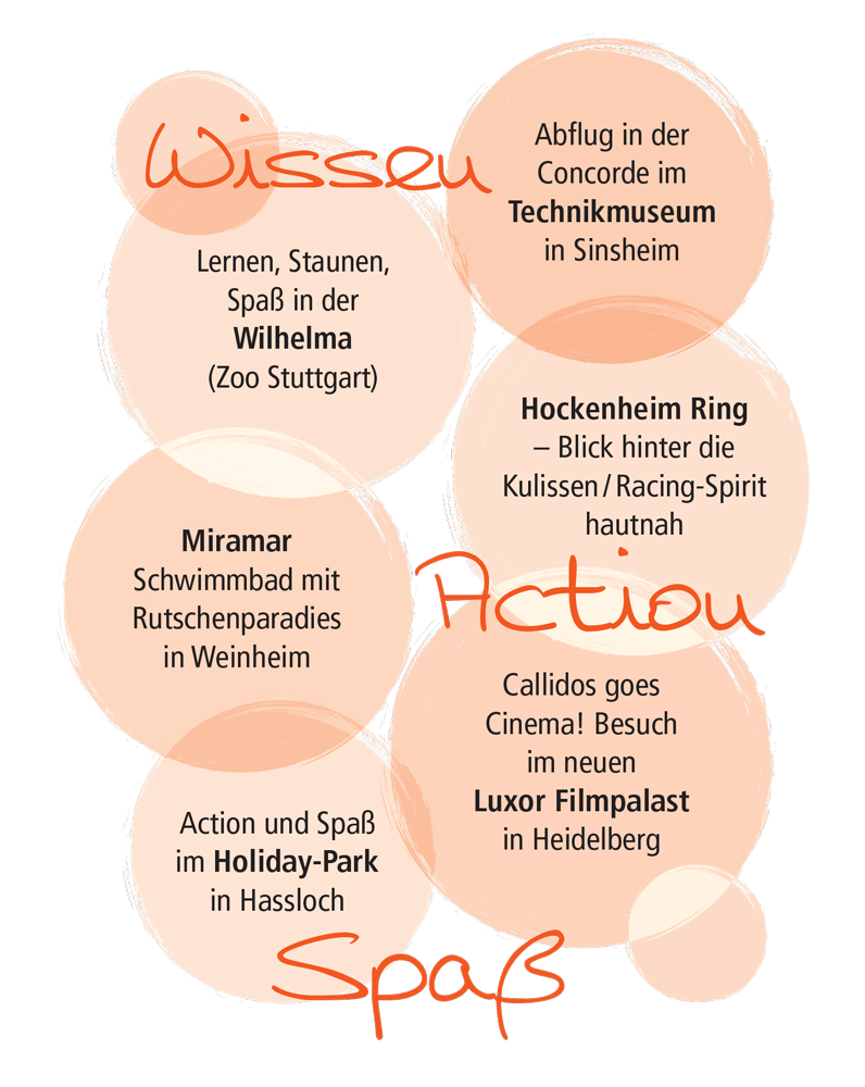 Freizeitprogramm 2018 - Callidos - Mehr als Nachhilfe!